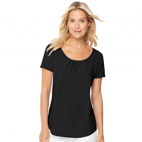 Hanes Women's Short-Sleeve Shirred Tee