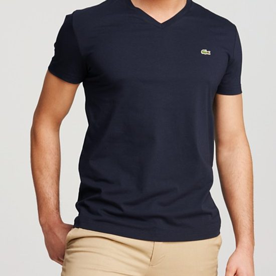 Bloomingdale's Lacoste Solid V-Neck Tee