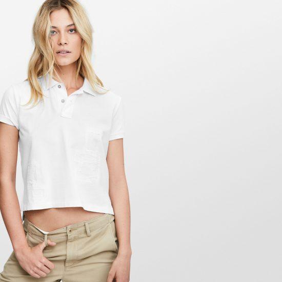 Ralph Lauren Cropped-Cotton-Mesh-Polo-Shirt